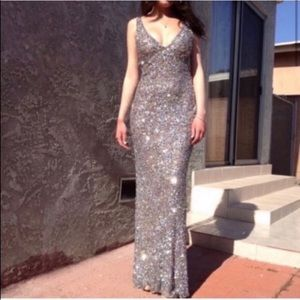 Scala special occasion sequin gown